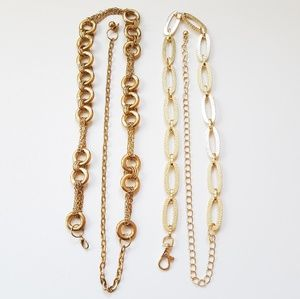 Accessories - Gold Tone Metal Chain Hip Belt Accessory Bundle